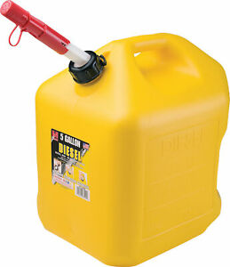 Midwest Can Company P enviro Flo Poly Diesel Can Yellow 5 Gallon