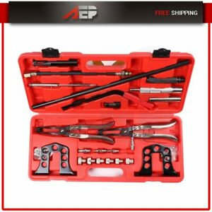 Cylinder Head Valve Spring Compressor Kit Steel Stem Seal Installer Remover Tool