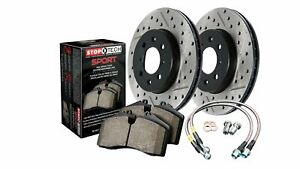 Sport Axle Pack St978 65001f Drilled Slotted Front Brake Kit For Ford