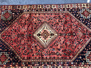 5x8 Antique Caucasian Rug Persian Hand Knotted Wool Foundation Heriz Rugs 5x7 Ft