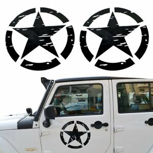 Pair Us Army Military Star Sticker Decal For Car Truck Jeep Wrangler Yj Tj Jk