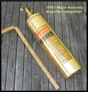 Vintage 1940 1950 s Mopar Fire Extinguisher For Display Chrysler Plymouth Dodge