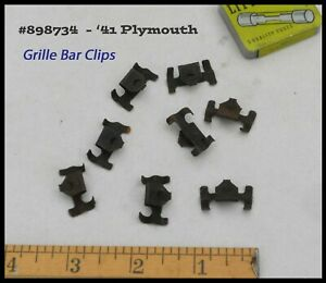 Nos 1941 Plymouth Grille Bar Moulding Clips Deluxe Coupe Convertible Mopar Trim