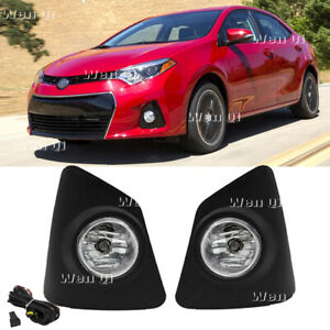 Fit 2014 2016 Toyota Corolla S Front Bumper Fog Lights Driving Lamps W switch