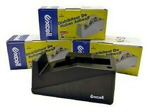 lot Of 3 Black Excell Twincore Tape Dispenser 1 Inch And 3 Inch Core Brand New