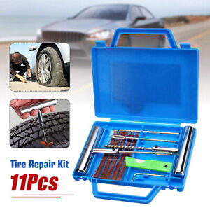 11 Pcs Auto Car Tire Diagnostic Repair Kit Tubeless Wheel Tire Mending Tool Set