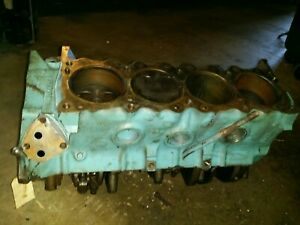 1969 Pontiac 350 Short Block Engine Core For Rebuilding 3 26 69 9790079