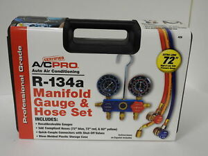 Certified A c Pro R134a Professional Manifold Gauge And Hose Set