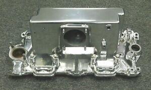Isca Show Polished Corvette Rochester Fuel Injection Plenum And Base Plate