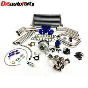 Honda Civic D Series D16 D15 Sohc T3t4 63 Turbo Kit Stainless Steel Manifold