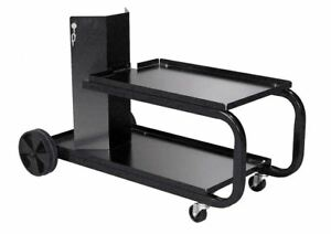 Gas Welding Cart Mig Cylinder Rack Welder Storage Tank Table Heavy Duty Rolling