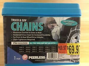 Peerless Truck Tire Snow Chains Stock 0222930 New Never Used Free Shipping