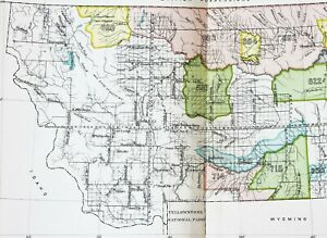 1899 Montana Map Missoula Helena Native American Ceded Territory Original