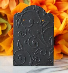 10 Black Swirl Earring Cards Jewelry Cards Craft Show Or Retail Display Cards