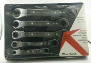 Blue Point Metric 5 Piece Offset Ratcheting Box Wrench Set