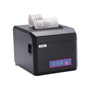 Hoin 58 80mm Pos Dot Receipt Barcode Thermal Printer 300mm s Usb lan Port O5e1