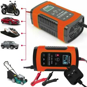 Car Battery Charger 12v Portable Auto Trickle Maintainer Boat Motorcycle