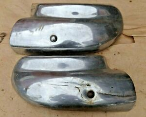 1946 1947 1948 Chevy Rear Fender Guards Original Chevrolet Accessory Wraps Pair