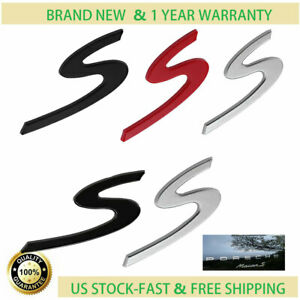 Chrome S Emblem Badge For Porsche 911 Boxster Cayenne Panamera Carrera Turbo