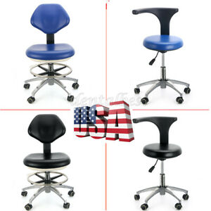 Usa Dental Rotation Mobile Chair Adjustable 360 Stool Dentist Chair Pu Leather