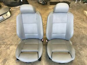 04 05 06 Bmw E53 X5 Front Left Right Sport Seat Grey Leather Pair Seats