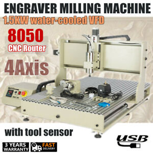 Usb Cnc Router 8050 Engraver Milling Machine 4axis Engraving Woodworking Cutting