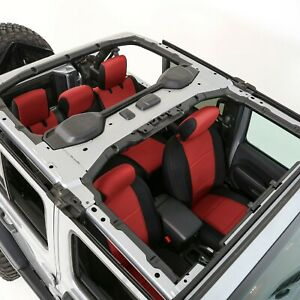 Smittybilt 472130 in Stock Neoprene Front Rear Seat Cover Set Jeep Jl 4 dr