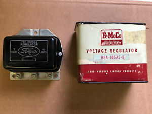 1949 1955 Ford Thunderbird Lincoln Mercury Nos 6 Volt 40 Amp Voltage Regulator