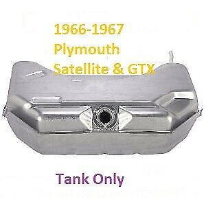 1966 1967 Plymouth Satellite Gtx Fuel Or Gas Tank Only 19 Gallon