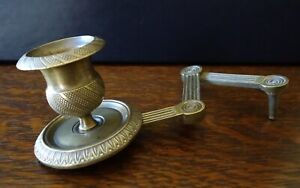 Antique French Brass Telescoping Candle Holder Sconce For Wall Mirror Dresser