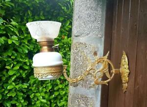 Stunning Antique French Gilt Bronzed Ormolu Medieval Griffin Wall Light Sconce