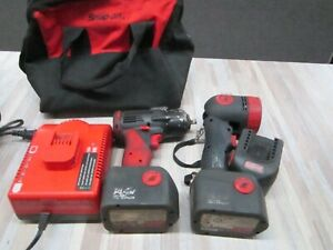 Snap on 14 4v 3 8 Impact Wrench And Ctled4918hc Light W Bag