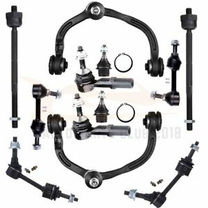 For 2003 2005 Ford Expedition 12pcs Front Rear Upper Control Arms Tie Rods Kit