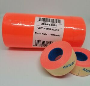 Garvey Gs2016 Fluorescent Red Labels Compatible For Monarch 1136 Labelers