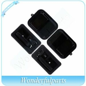 4x Outer Inner Door Handles Front Left Right Side Fit 97 06 Jeep Wrangler