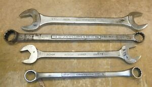 Lot Of 4 Wrenches Double Boxed Open Jh Williams Bonney Craftsman Fairmount Rk1