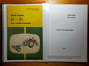 John Deere 21 Sn 3301 31 Sn 2101 Hay Conditioner Owner Operator Manual Parts