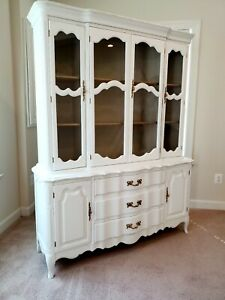 Vintage French Country Style China Cabinet Hutch Buffet