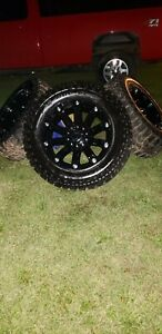 4 New 35 12 50 20 Xtreme Mud Claw Tires And Rims 8 Lug For F250
