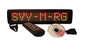Tricolor Led Programmable Scrolling Message Display Sign Indoor 17 x4 New