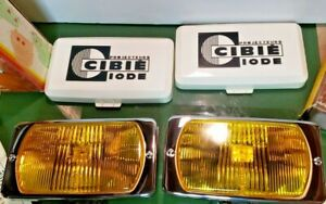 Vintage Nos New Old Stock Cibie Iode Amber Driving Lights 95 Porsche Toyota