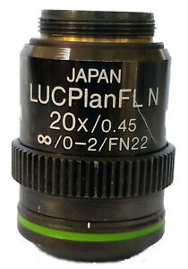 Olympus Lucplanfln 20x Objective Ph1 Phase Plan Achromat Na 0 45 Fn22 W covers