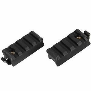Lancer Tactical Airsoft FAST MICH Helmet Accessory Rail Mounts Pack of 2 Black