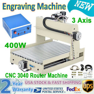 3 Axis Engraver Machine 3040 Cnc Router Woodworking Artwork Drilling Diy Cutter