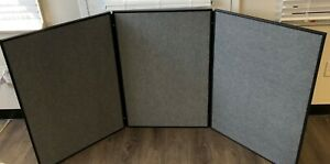 Tri fold 3 Panel Table Top Display Trade Show Presentation Board With Case