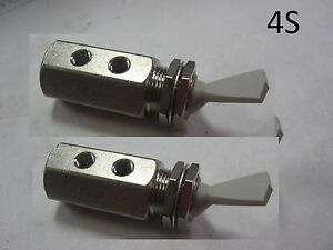 2 Nylon Air Pneumatic Stainless Steel 3 way Detented Momentary Toggle Switch