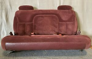 1995 99 Chevy Gmc Suburban Tahoe Yukon Rear 3rd Third Row Bench Seat Ruby Red