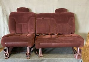 1995 99 Chevy Gmc Suburban Tahoe Yukon Rear 2nd Second Row Bench Seat Ruby Red