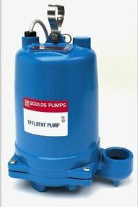 Goulds We0511hh 1 2hp Submersible Effluent Pump
