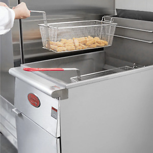 Ff518 Commercial Natural Gas Propane 70 100lb Stainless Steel Floor Deep Fryer
